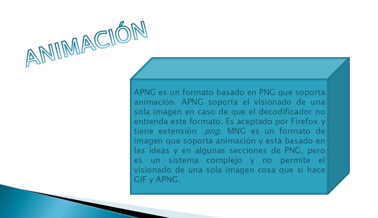 APNG es un formato basado en PNG que soporta animación.