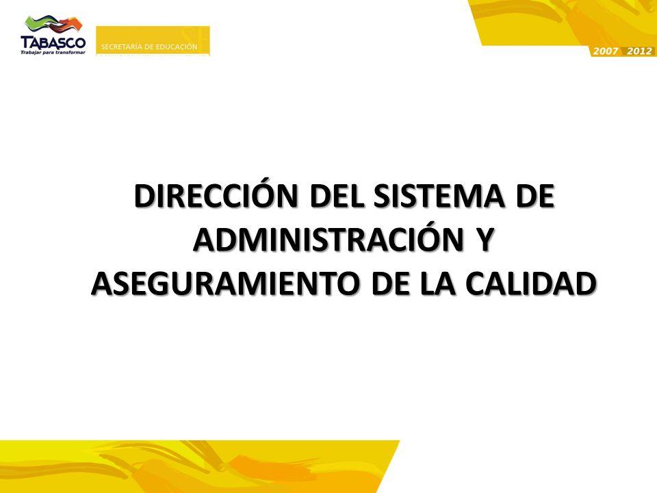 DIRECCIÓN DEL SISTEMA DE ADMINISTRACIÓN Y ASEGURAMIENTO DE LA CALIDAD