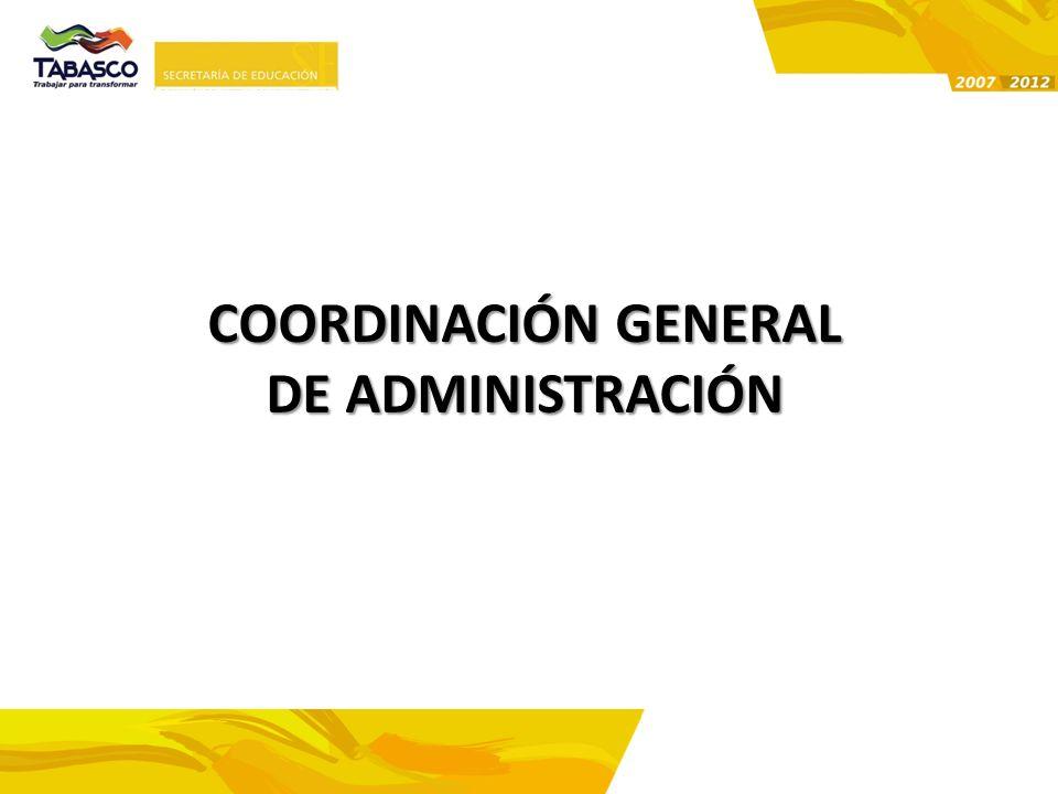 COORDINACIÓN GENERAL DE ADMINISTRACIÓN