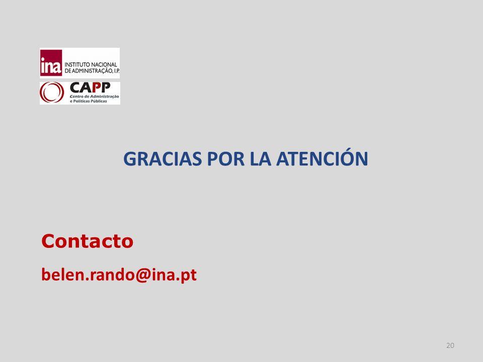 20 Contacto belen.rando@ina.pt GRACIAS POR LA ATENCIÓN