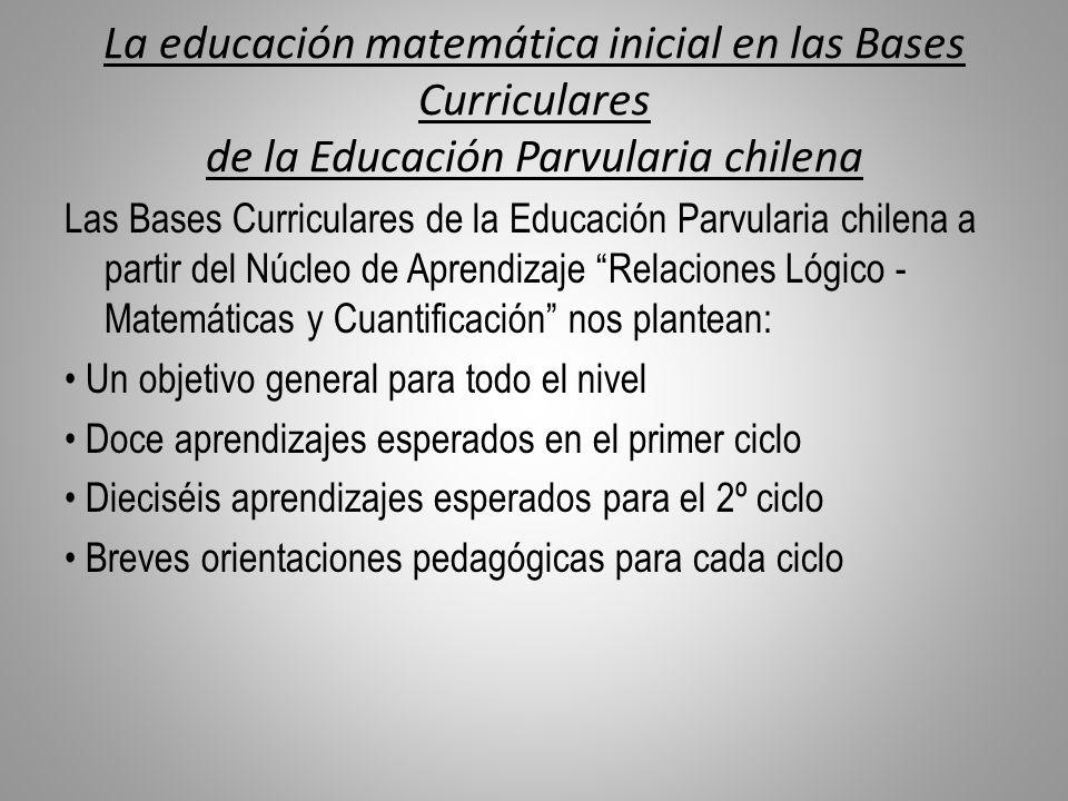 La educación matemática inicial en las Bases Curriculares de la Educación Parvularia chilena Las Bases Curriculares de la Educación Parvularia chilena