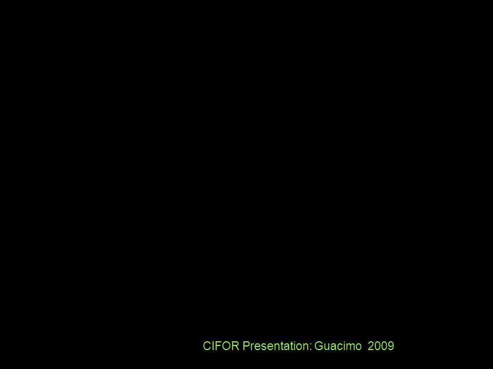 CIFOR Presentation: Guacimo 2009