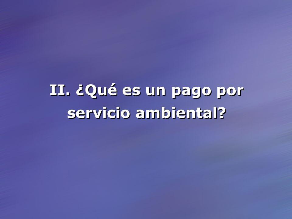 II. ¿Qué es un pago por servicio ambiental