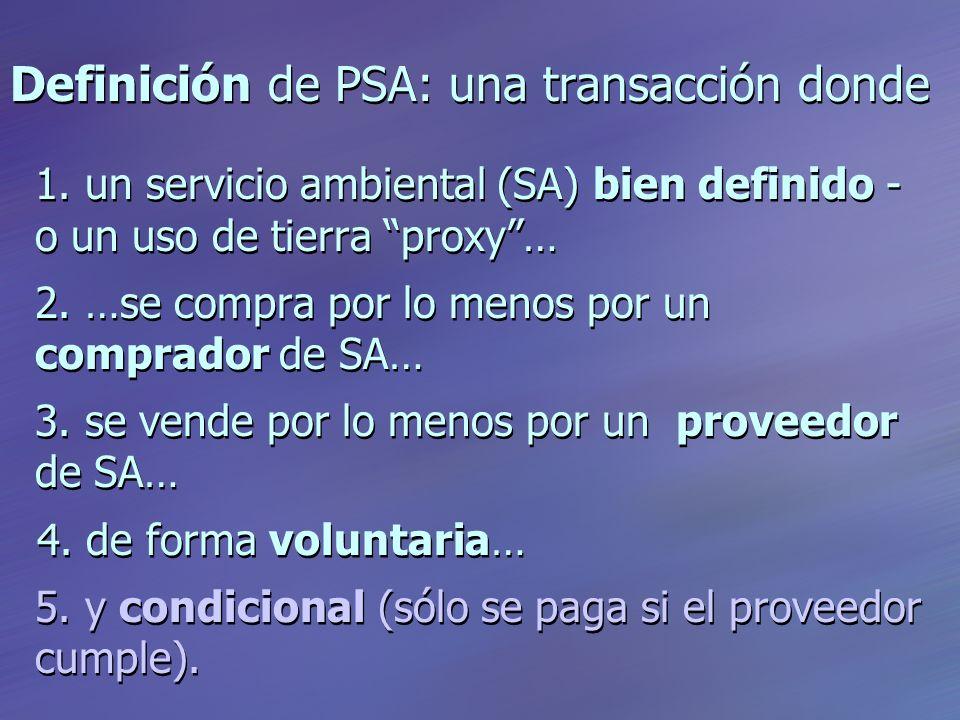 Definición de PSA: una transacción donde 1.