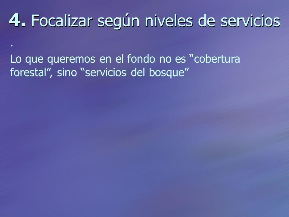4. Focalizar según niveles de servicios.