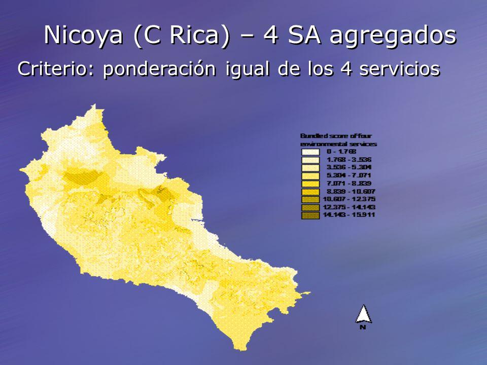 Nicoya (C Rica) – 4 SA agregados Criterio: ponderación igual de los 4 servicios Nicoya (C Rica) – 4 SA agregados Criterio: ponderación igual de los 4 servicios