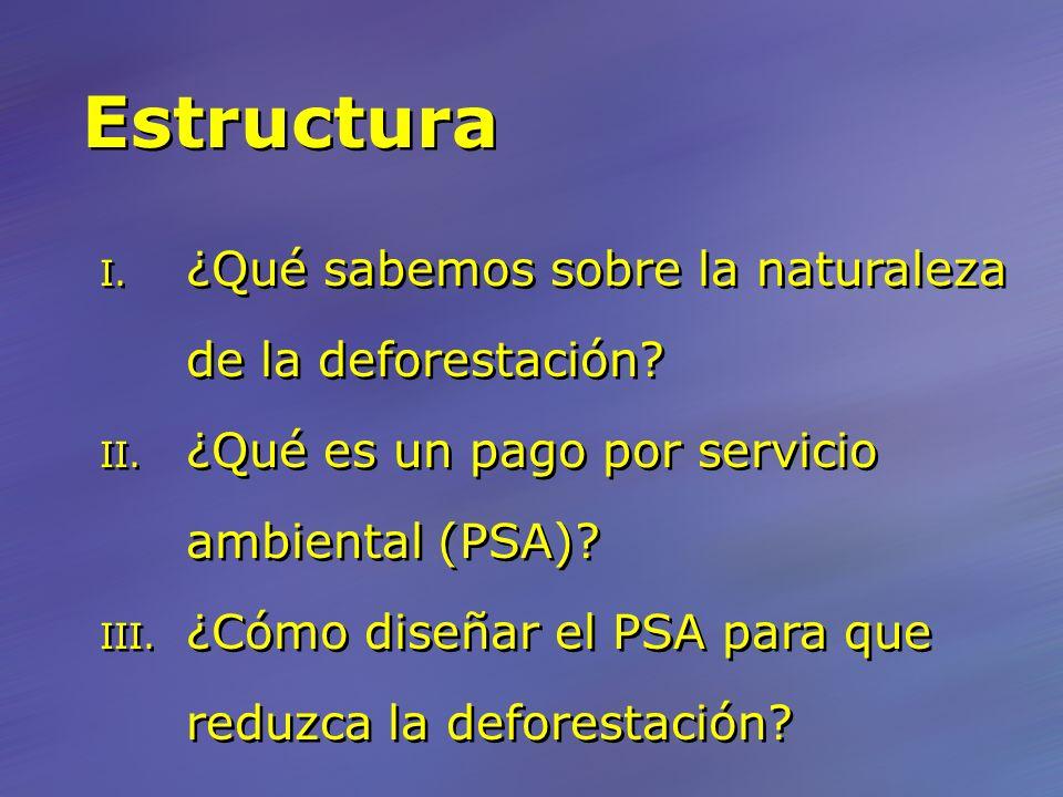 Estructura I. ¿Qué sabemos sobre la naturaleza de la deforestación.