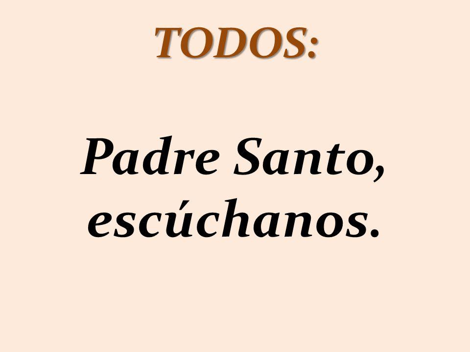 TODOS: Padre Santo, escúchanos.