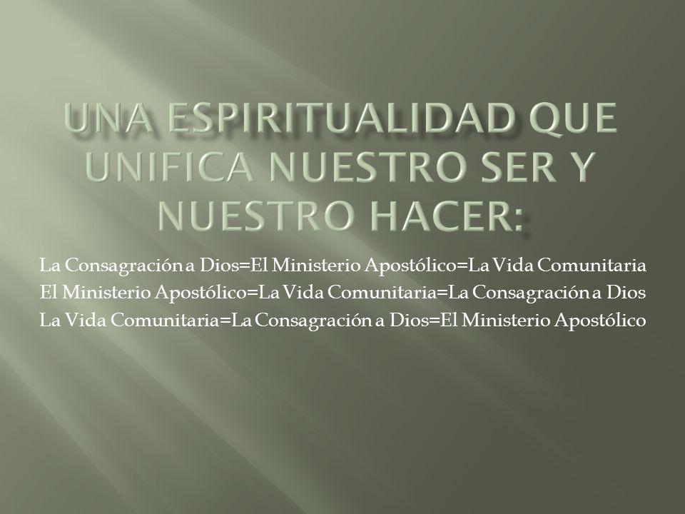 La Consagración a Dios=El Ministerio Apostólico=La Vida Comunitaria El Ministerio Apostólico=La Vida Comunitaria=La Consagración a Dios La Vida Comunitaria=La Consagración a Dios=El Ministerio Apostólico