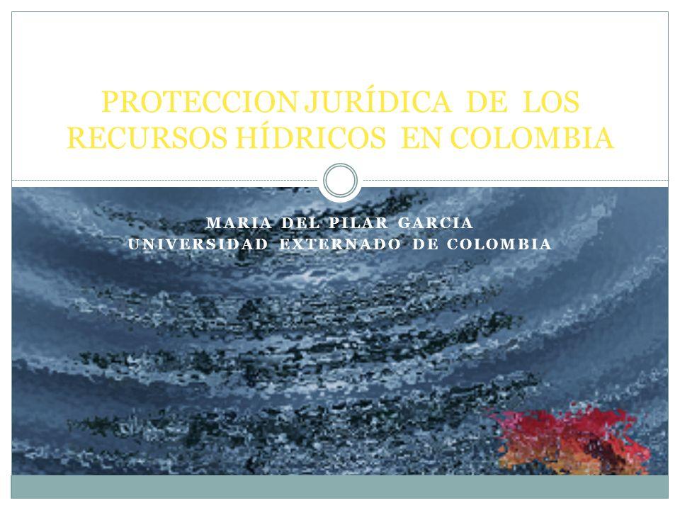 MARIA DEL PILAR GARCIA UNIVERSIDAD EXTERNADO DE COLOMBIA PROTECCION JURÍDICA DE LOS RECURSOS HÍDRICOS EN COLOMBIA