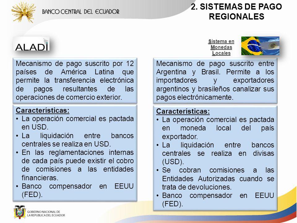 Mecanismo de pago suscrito por 12 países de América Latina que permite la transferencia electrónica de pagos resultantes de las operaciones de comerci