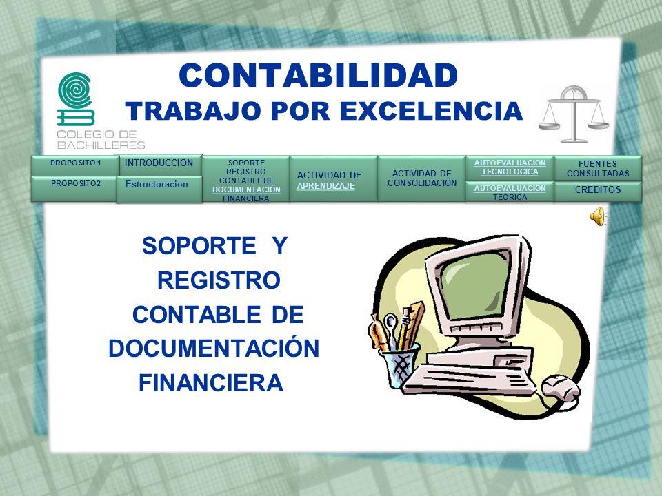 Propósito Meta de aprendizaje La carrera de profesional técnico-bachiller en contabilidad, tiene la finalidad de realizará los procesos de soporte y registro de documentación de las operaciones realizadas.