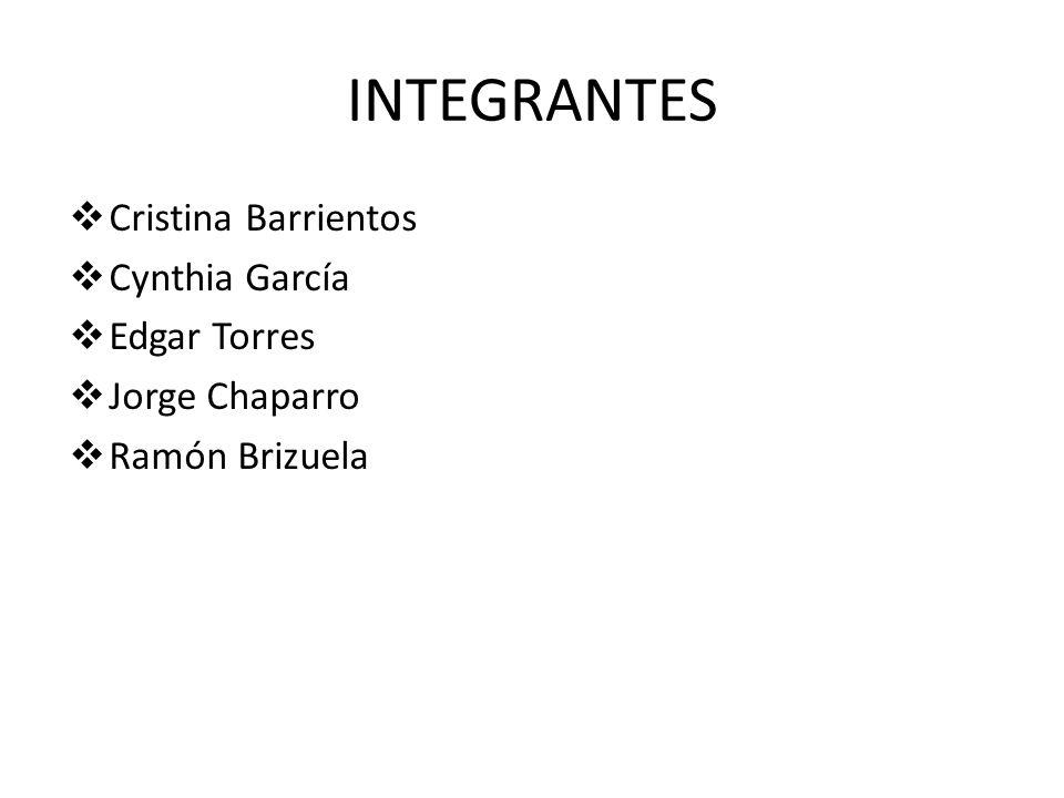 INTEGRANTES Cristina Barrientos Cynthia García Edgar Torres Jorge Chaparro Ramón Brizuela