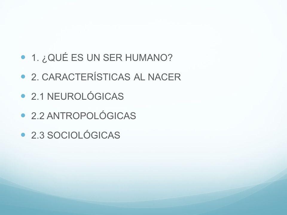 1.¿QUÉ ES UN SER HUMANO. 2.