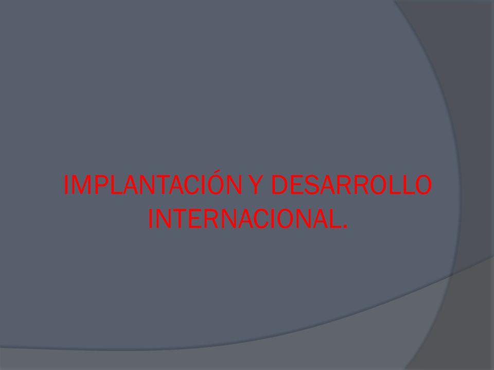 U.E.N 2: PUESTA EN PRÁCTICA DEL PLAN DE INTERNACIONALIZACIÓN.