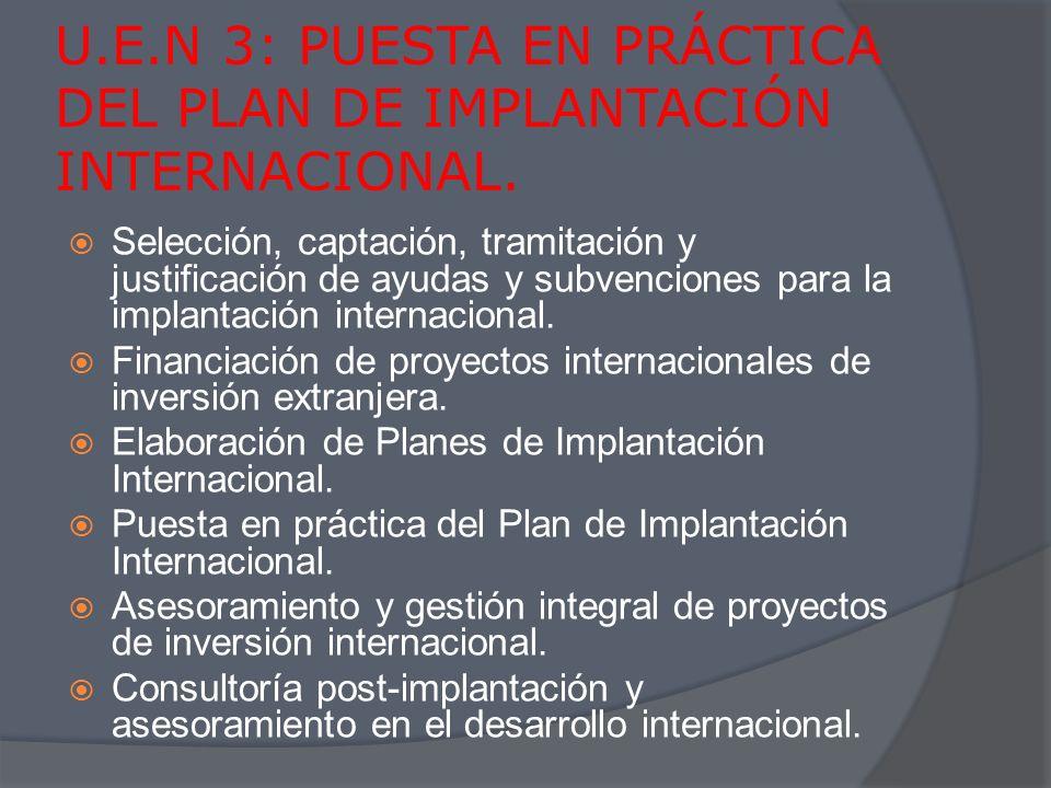 IMPLANTACIÓN Y DESARROLLO INTERNACIONAL.