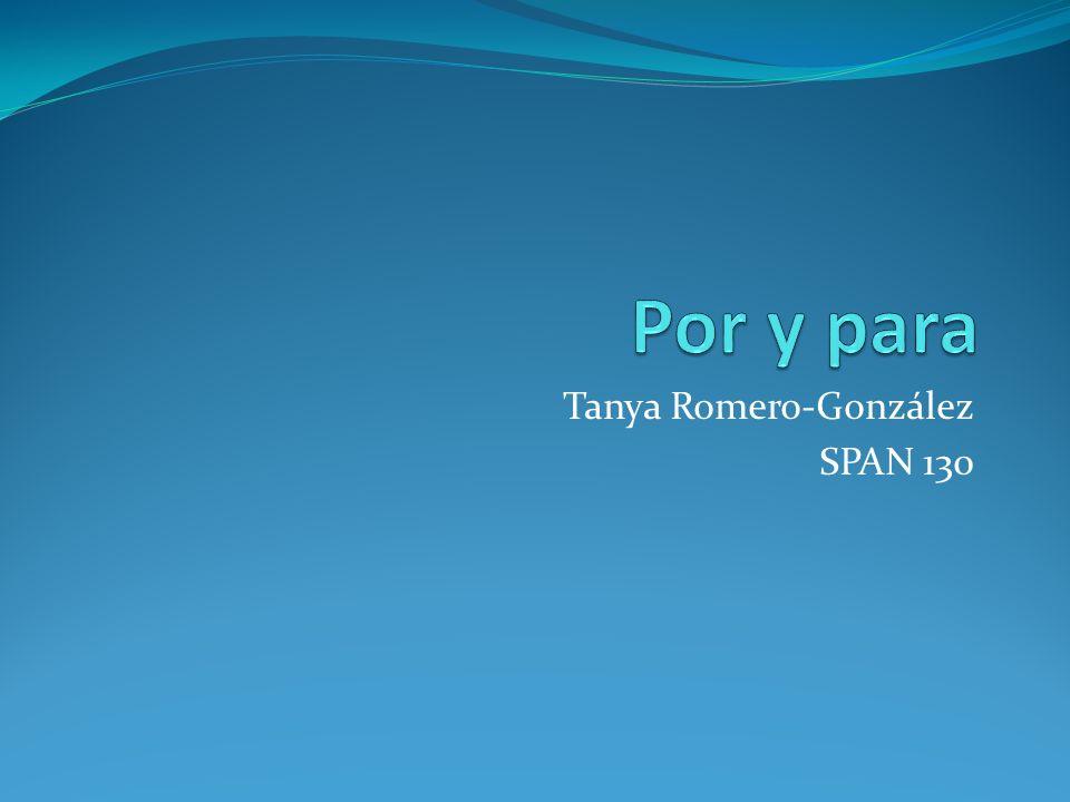 Tanya Romero-González SPAN 130