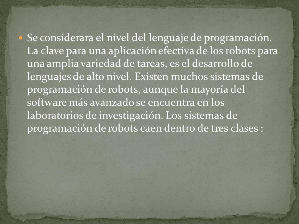Se considerara el nivel del lenguaje de programación.
