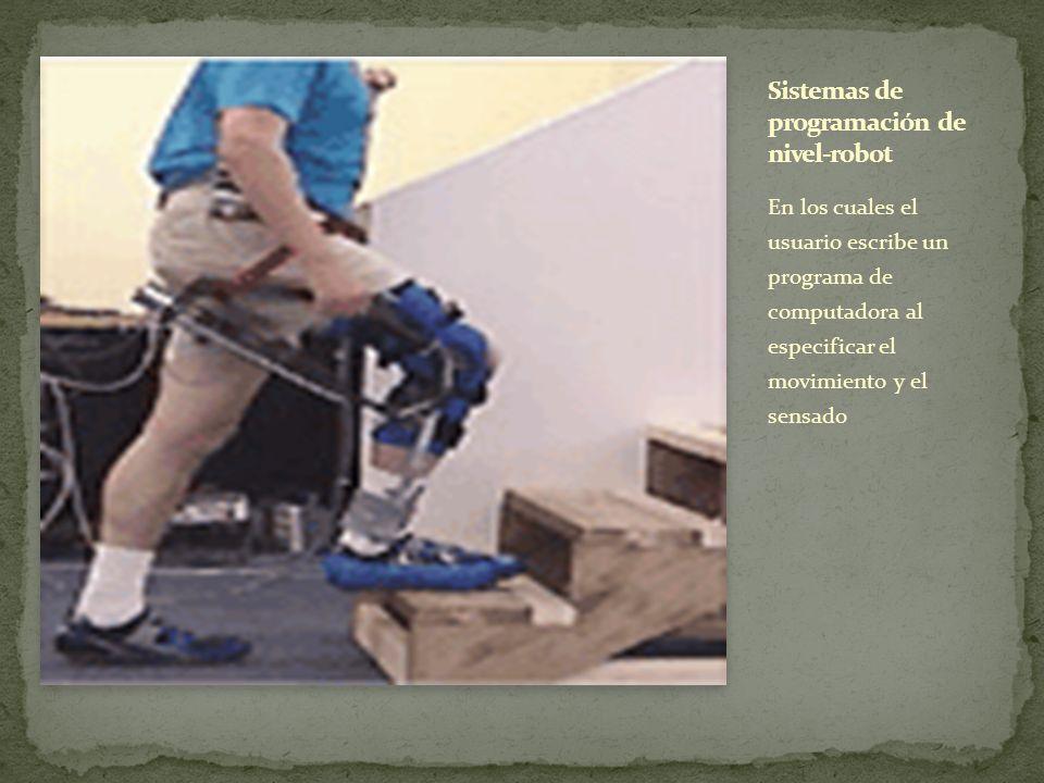 En el cual el usuario conduce el robot a través de los movimientos a ser realizados.