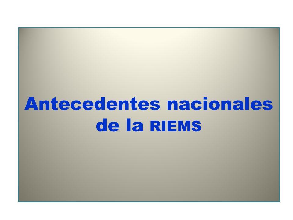 Antecedentes nacionales de la RIEMS
