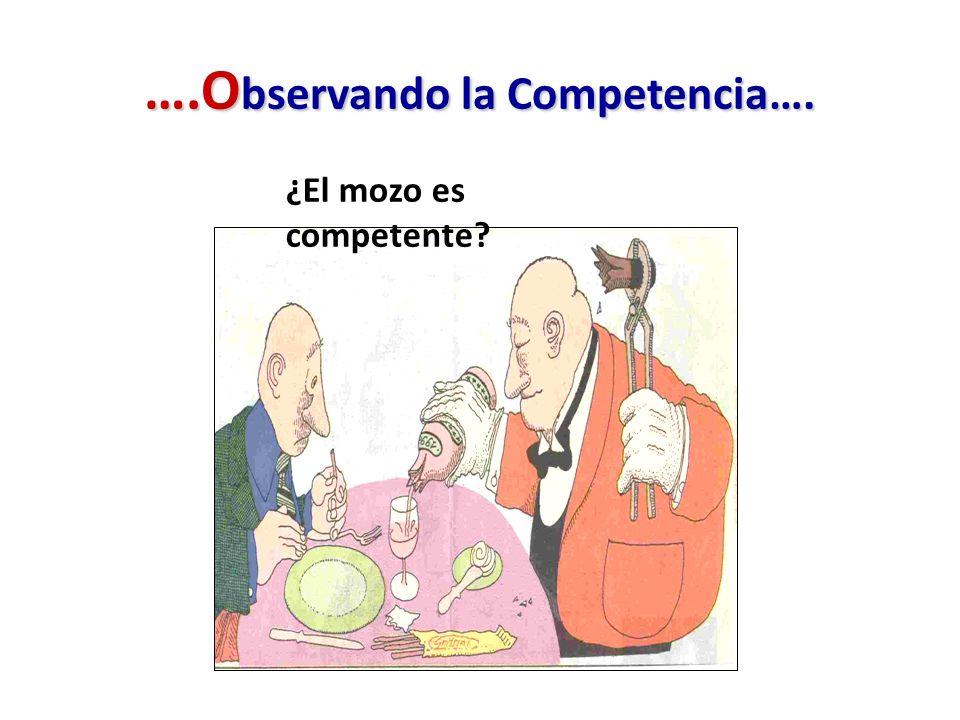 ….O bservando la Competencia…. ¿El mozo es competente?