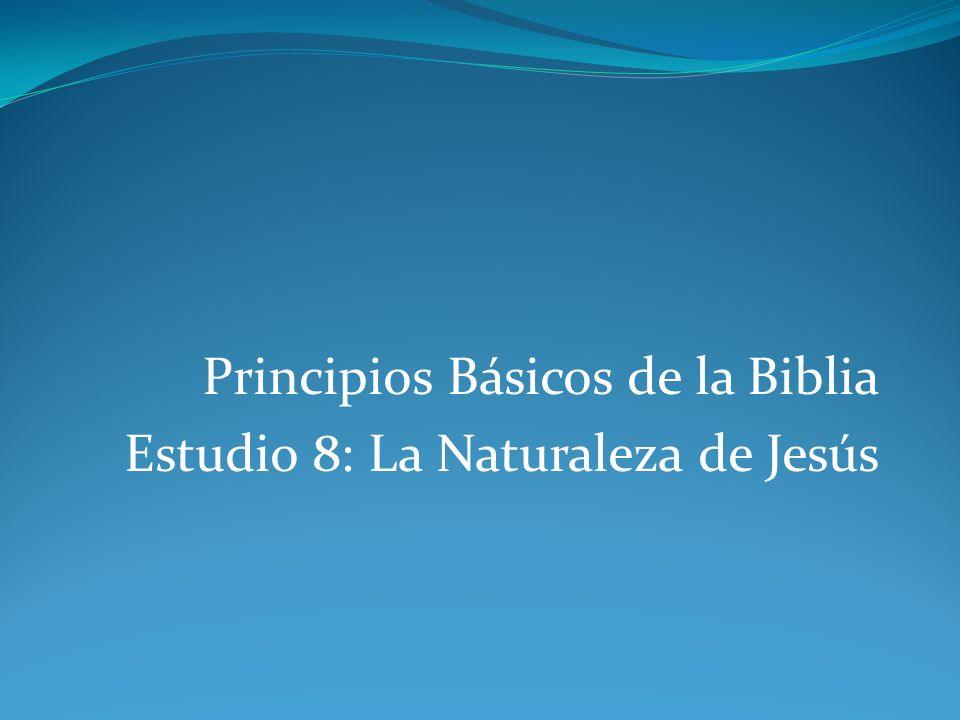 Principios Básicos de la Biblia Estudio 8: La Naturaleza de Jesús