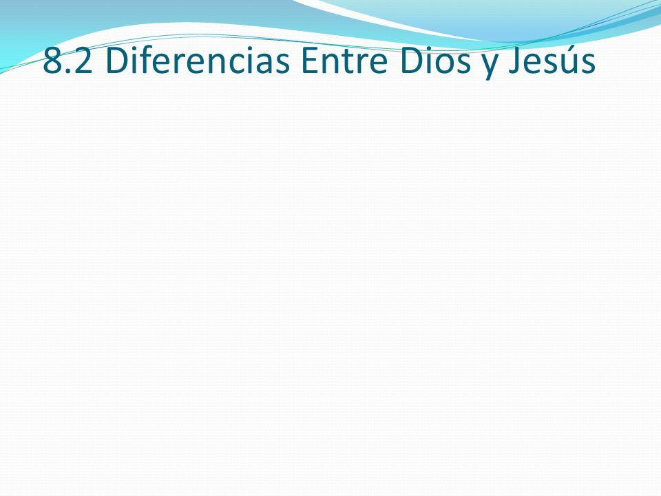 8.2 Diferencias Entre Dios y Jesús