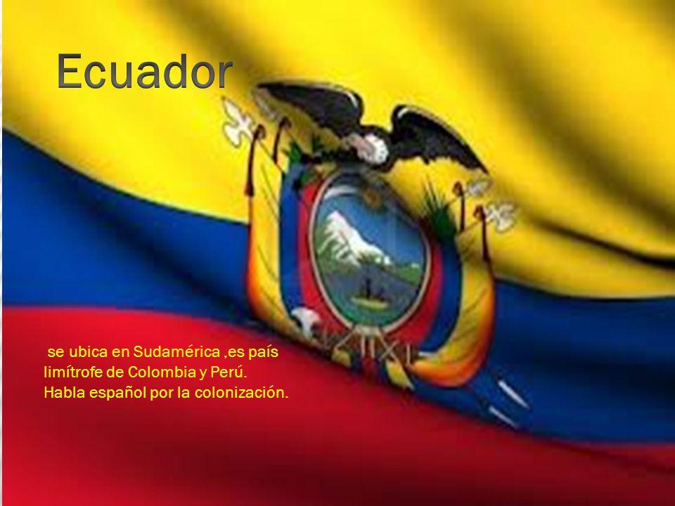 se ubica en Sudamérica,es país limítrofe de Colombia y Perú. Habla español por la colonización.