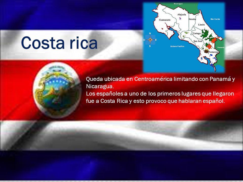 Queda ubicada en Centroamérica limitando con Panamá y Nicaragua. Los españoles a uno de los primeros lugares que llegaron fue a Costa Rica y esto prov