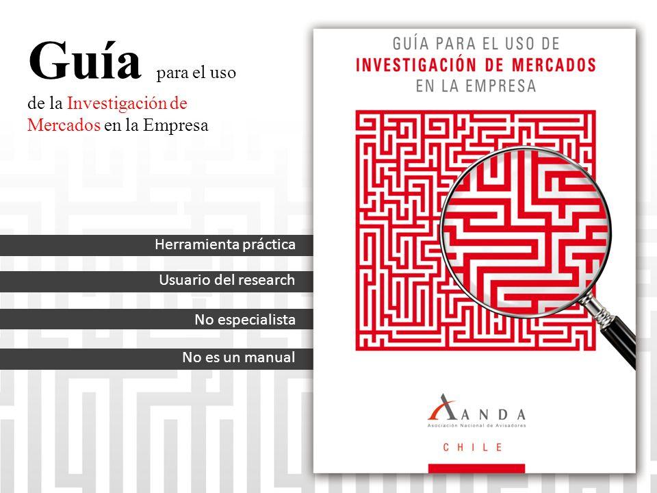 Guía para el uso de la Investigación de Mercados en la Empresa Herramienta práctica Usuario del research No es un manual No especialista