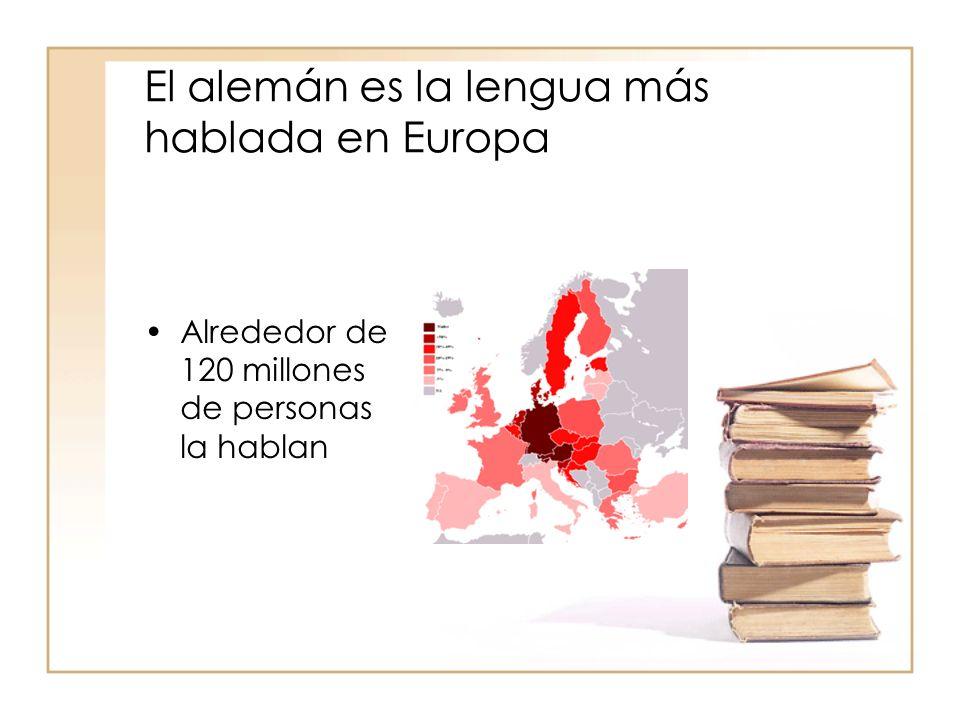 Además, contando también la gente que lo habla como lengua extranjera: El alemán es el segundo idioma más empleado en la Unión Europea