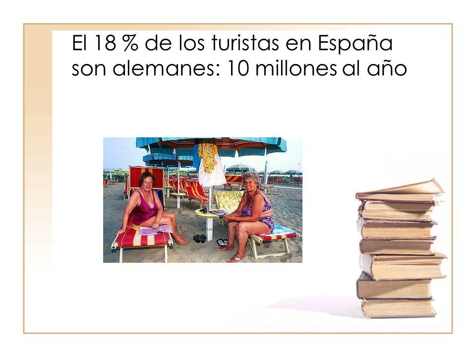 El 18 % de los turistas en España son alemanes: 10 millones al año