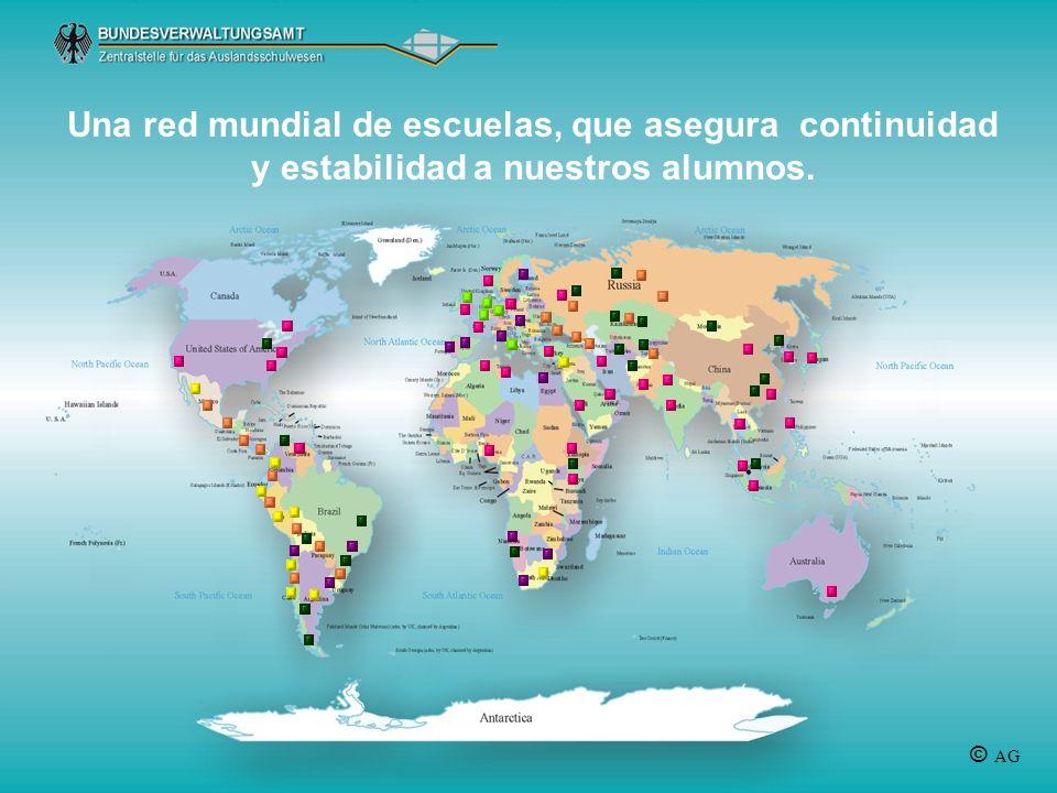 Una red mundial de escuelas, que asegura continuidad y estabilidad a nuestros alumnos. © AG