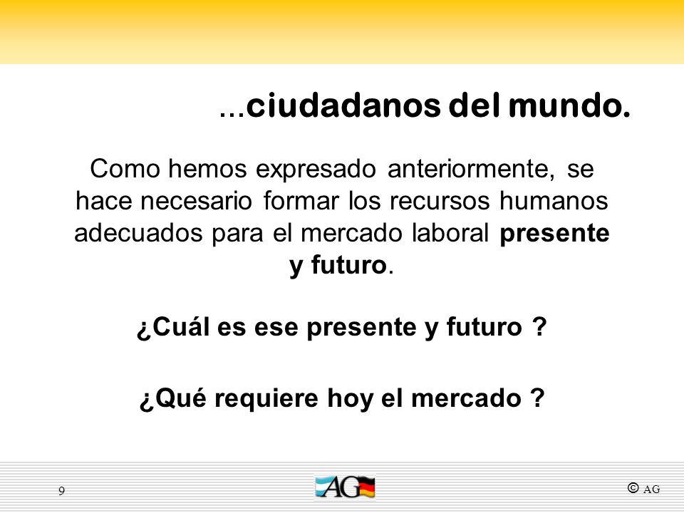 9 Como hemos expresado anteriormente, se hace necesario formar los recursos humanos adecuados para el mercado laboral presente y futuro. ¿Cuál es ese