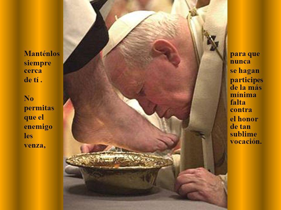 los sacerdotes que me han aconsejado, me han consolado o animado y aquellos a quienes de alguna forma les estoy más en deuda.