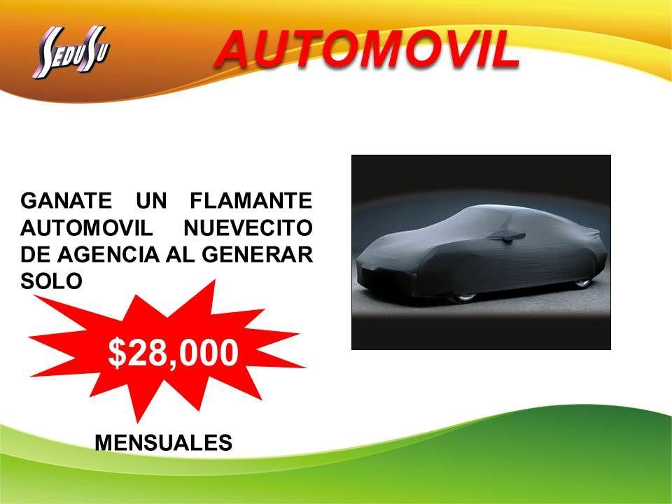 AUTOMOVIL GANATE UN FLAMANTE AUTOMOVIL NUEVECITO DE AGENCIA AL GENERAR SOLO MENSUALES $28,000