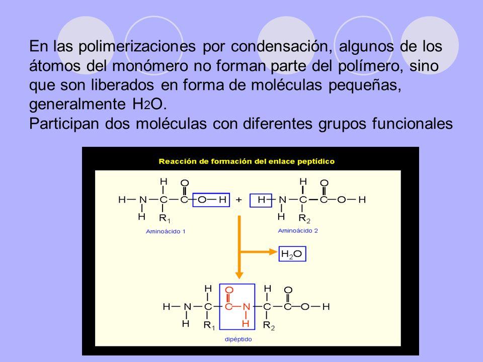 Poliamidas y poliésteres Los polímeros por condensación más conocidos son las poliamidas y los poliésteres.
