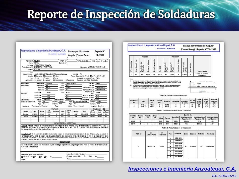 Inspecciones e Ingeniería Anzoátegui, C.A. Rif: J-315701219