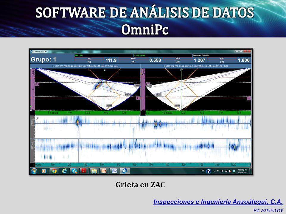Grieta en ZAC Inspecciones e Ingeniería Anzoátegui, C.A. Rif: J-315701219