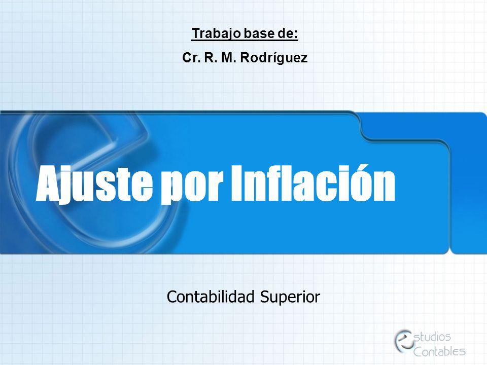 Ajuste por Inflación Contabilidad Superior Trabajo base de: Cr. R. M. Rodríguez