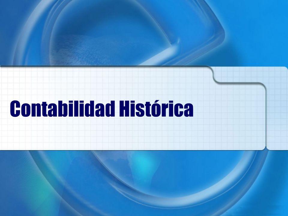 Contabilidad Histórica