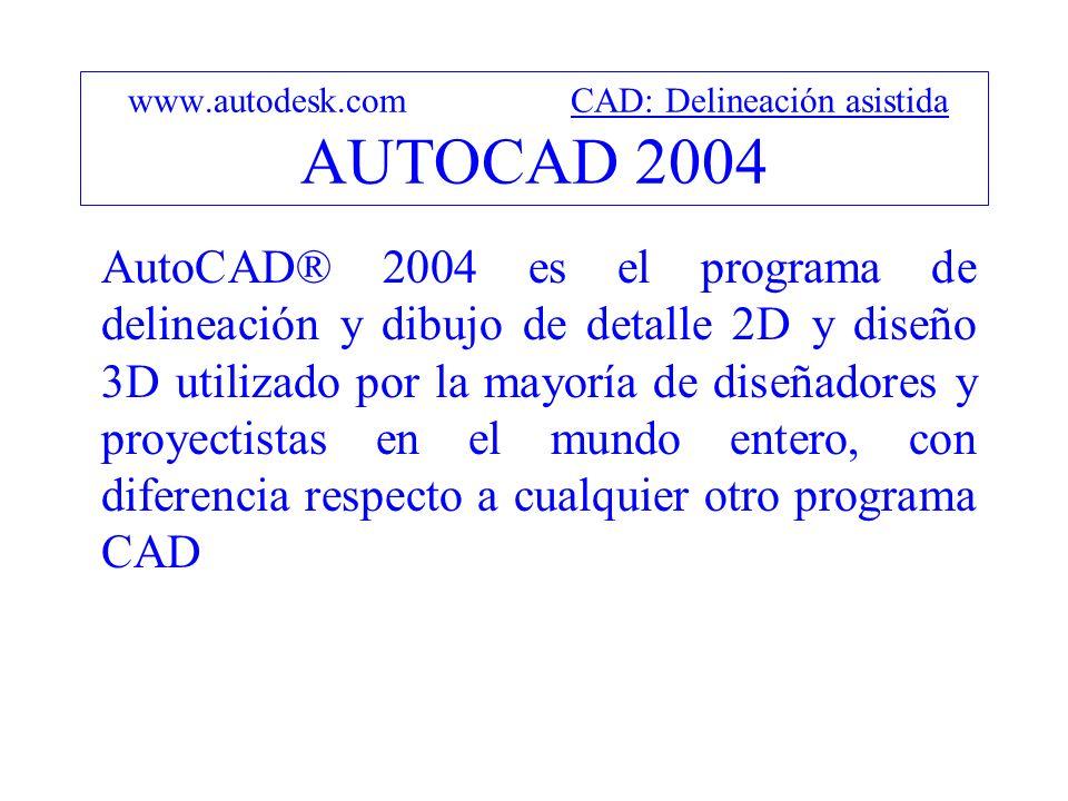 www.autodesk.com CAD: Modelado sólido AUTOCAD MECHANICAL 2004 AutoCAD Mechanical es el AutoCAD para: Diseño mecánico e ingeniería.