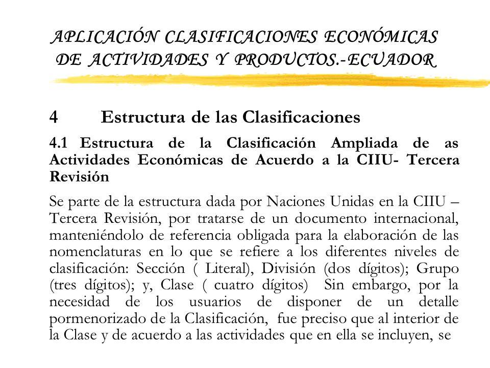 APLICACIÓN CLASIFICACIONES ECONÓMICAS DE ACTIVIDADES Y PRODUCTOS.- ECUADOR 3.3 Prueba Piloto Toda encuesta o documento que se elabora en el INEC, debe