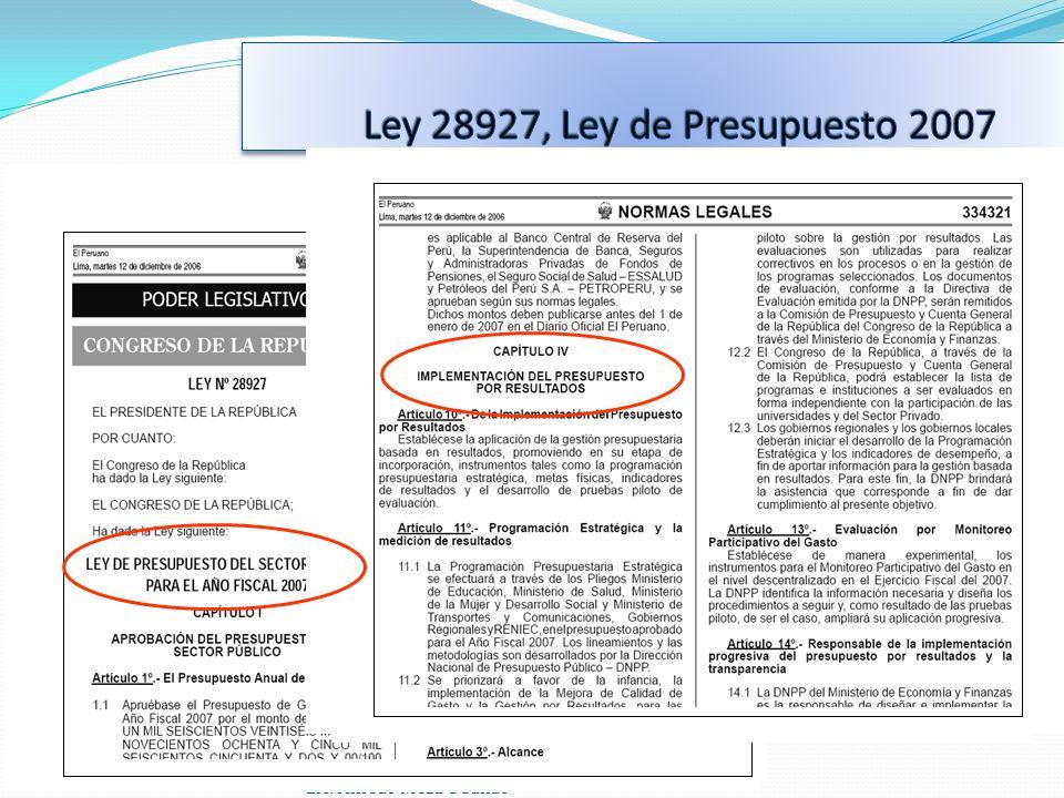 Ley 28927, Ley de Presupuesto 2007 Lic. Alfredo Meza Obando