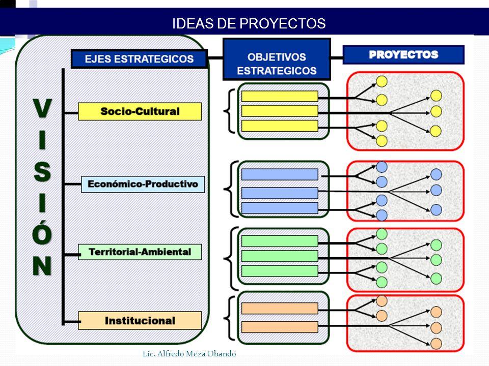 IDEAS DE PROYECTOS Lic. Alfredo Meza Obando