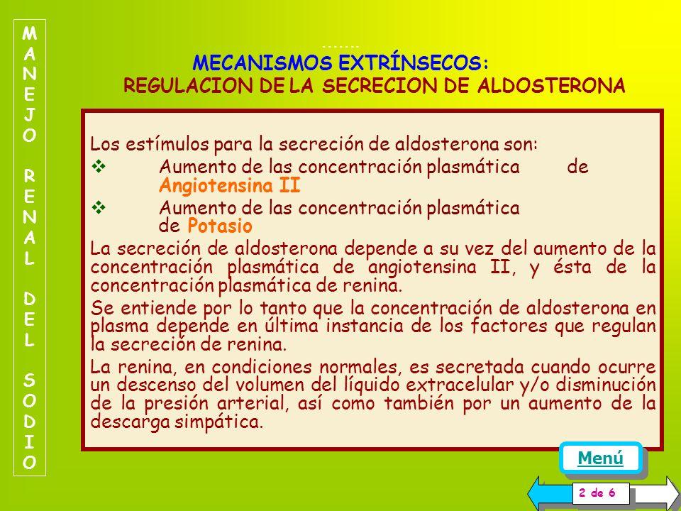 MECANISMOS EXTRÍNSECOS SISTEMA RENINA -ANGIOTENSINA -ALDOSTERONA. El sistema renina-angiotensina-aldosterona es el que ejerce el control fino de la re