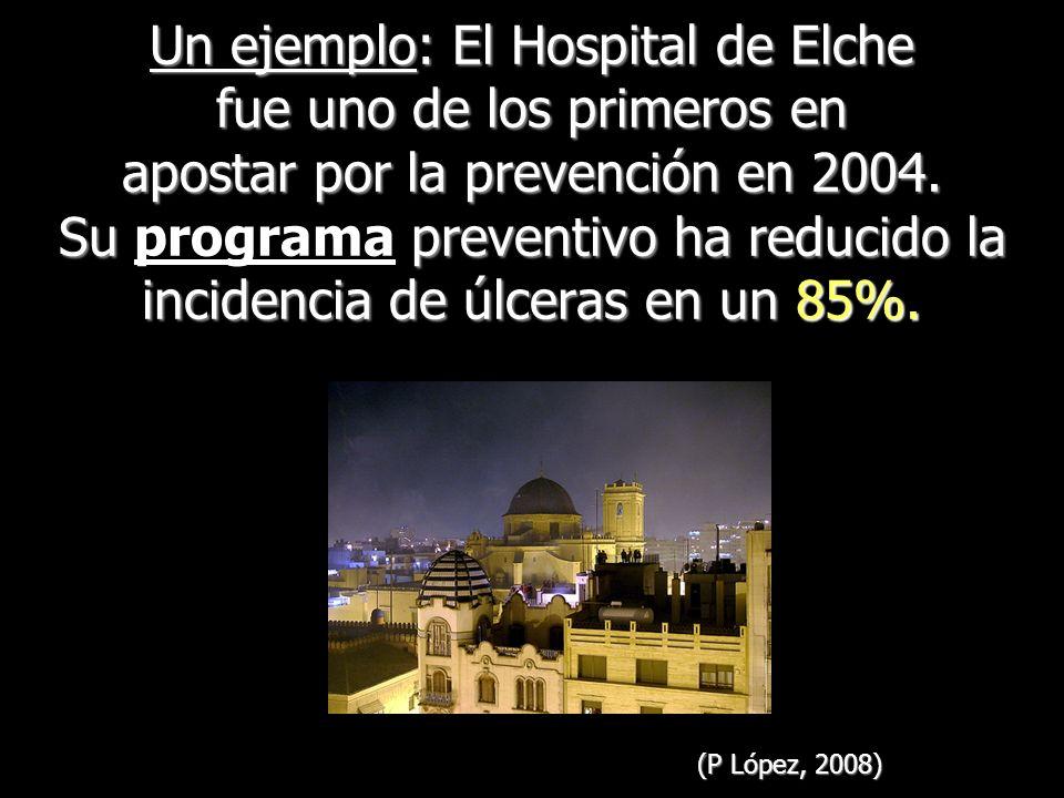 Un ejemplo: El Hospital de Elche fue uno de los primeros en apostar por la prevención en 2004. Su preventivo ha reducido la incidencia de úlceras en u