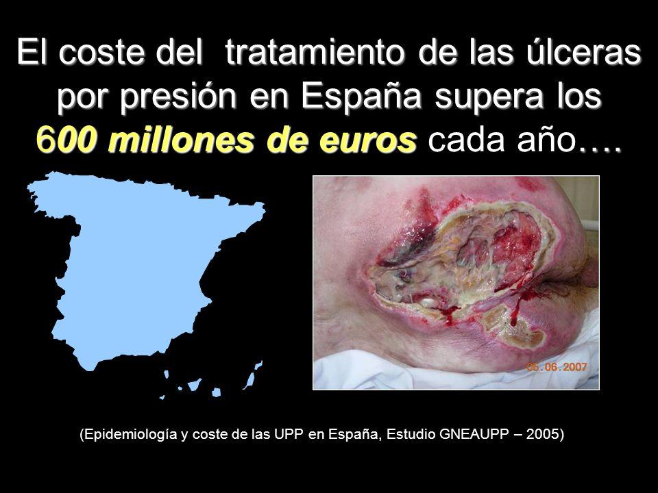 El coste del tratamiento de las úlceras por presión en España supera los 600 millones de euros …. El coste del tratamiento de las úlceras por presión