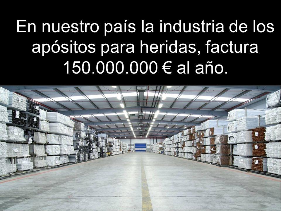 En nuestro país la industria de los apósitos para heridas, factura 150.000.000 al año.