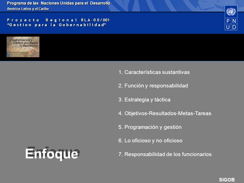 Programa de las Naciones Unidas para el Desarrollo América Latina y el Caribe P r o y e c t o R e g i o n a l R L A – 0 0 / 001 G e s t i o n p a r a l a G o b e r n a b i l i d a d